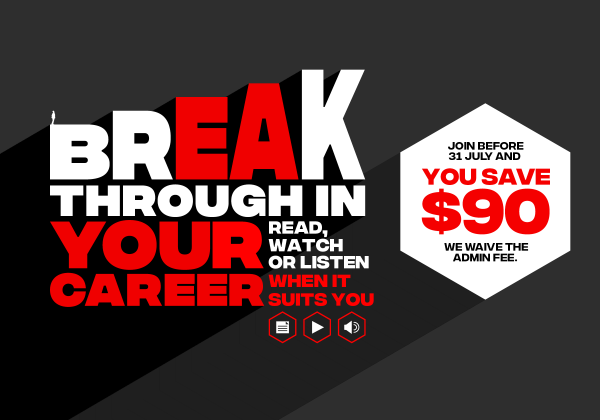 Break through to your career